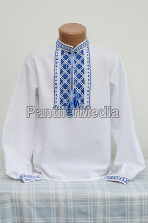 ukrainian national clothes embroidered shirt