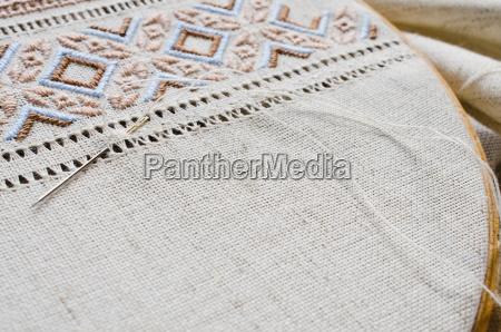 embroidery texture flat stitch and hemstitch