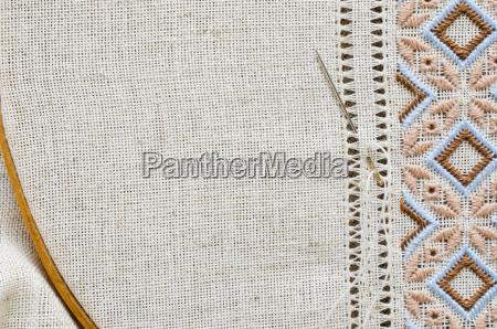 embroidery texture flat stitch hemstitch
