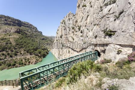 vandreservoir af el chorro malaga spanien