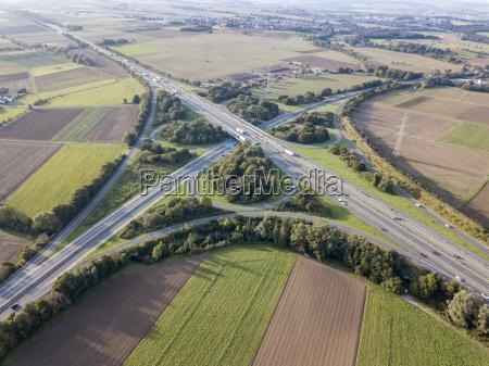 motorvejskrydset luftfoto