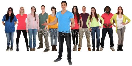 gruppe mennesker unge mennesker velkommen unge