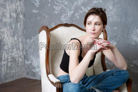 kvinde lukke laenestol ben bla mennesker