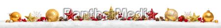 christmas border eller banner med stjerner