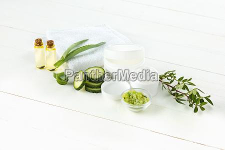 agurk og aloe kosmetiske creme ansigt
