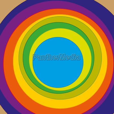 cirkler med varieret farve