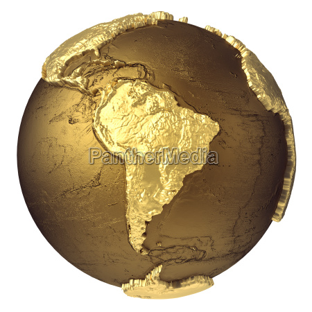 gold globe suedamerika