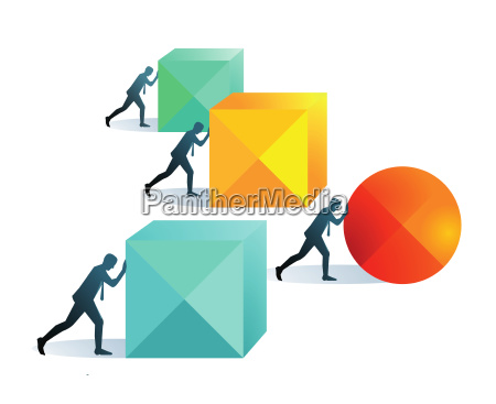 pushing forward concept illustration