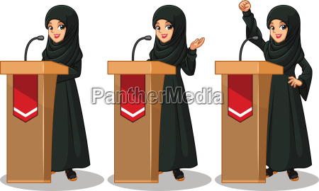 set of arab businesswoman in black