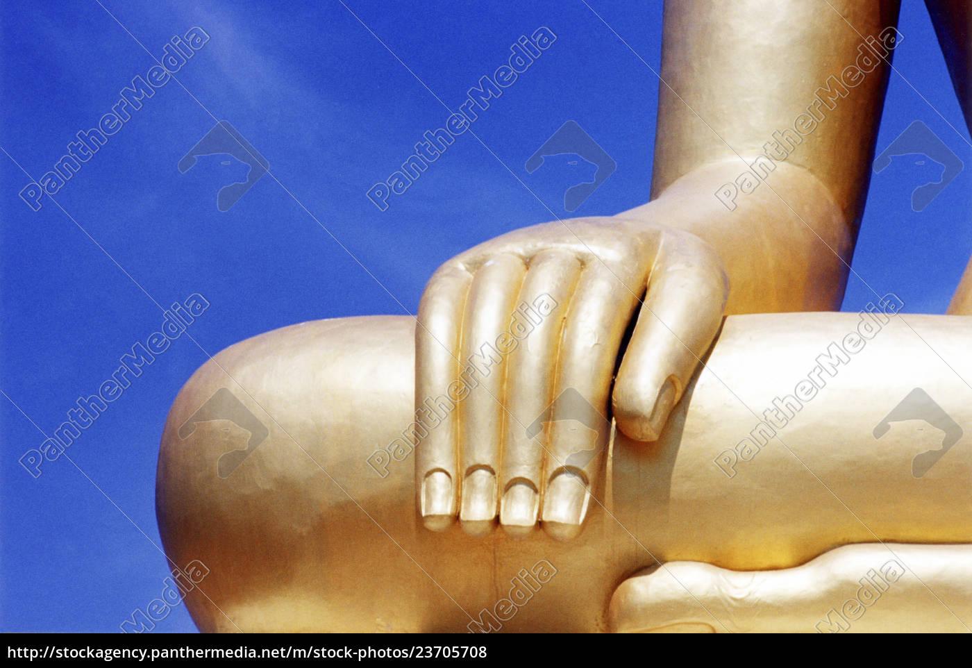 detalje, af, buddha, skulptur - 23705708