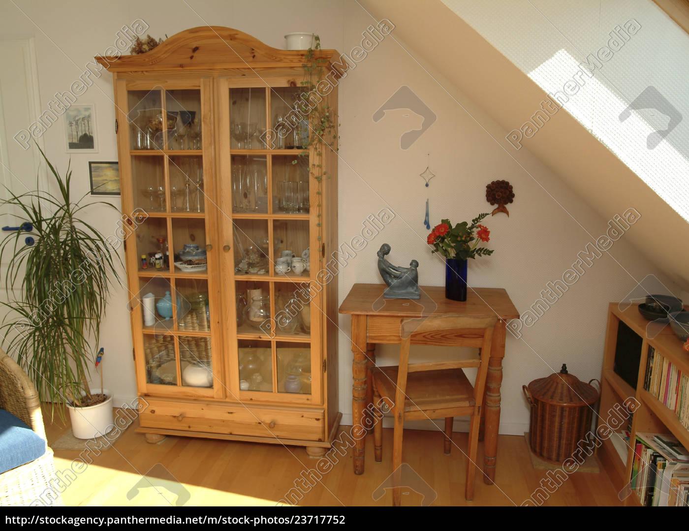 stue, med, naturtræ, møbler, kabinet, vitrine - 23717752