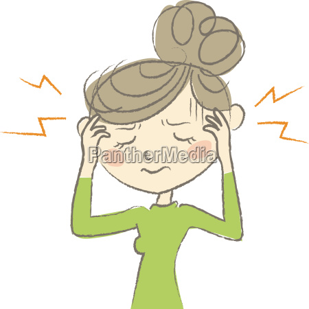 kvinde smerte hovedpine feber brummschaedel symptom