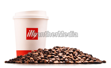 composition with paper cup of illy