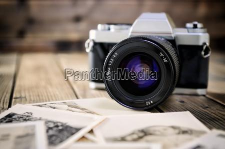 kamera film og vintage udskrifter af