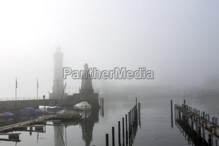 germany lindau lake constance harbor in