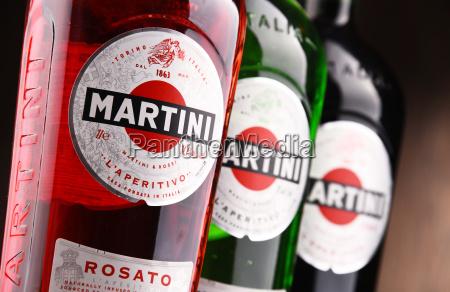 bottles of martini famous italian vermouth