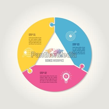 conceito de negocio infografico design com