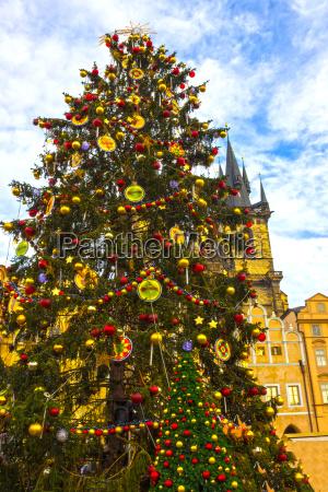 christmas tree and fairy tale church