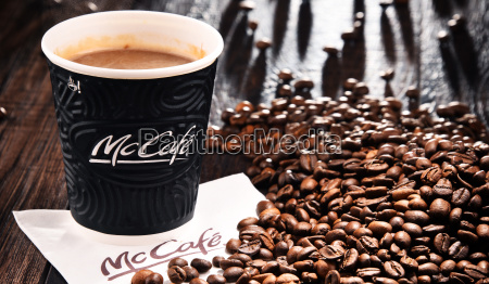 composition with mccafe coffee cup and