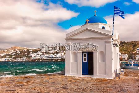 agios nikolaos church on island mykonos