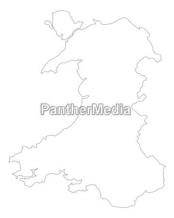 Kort Wales