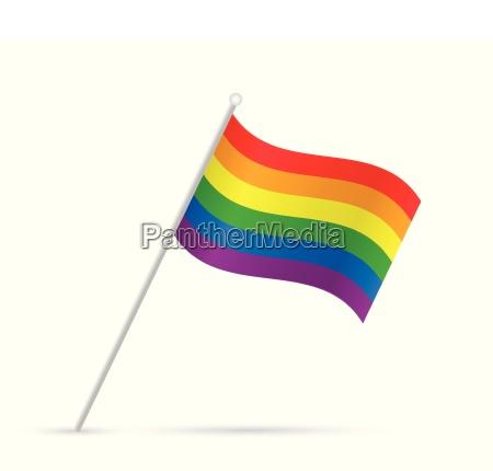 gay pride flag illustration