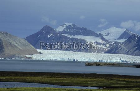 bjerge vande vinter nordpolen arktis kold