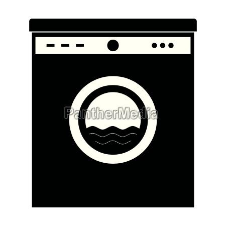 maquina de lavar roupa preta isto