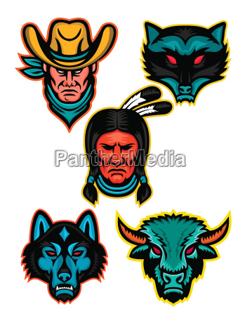 american sports mascot series collection