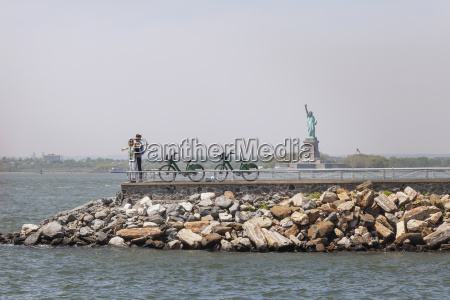 couple enjoying on observation point with