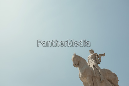 low angle view of statue against