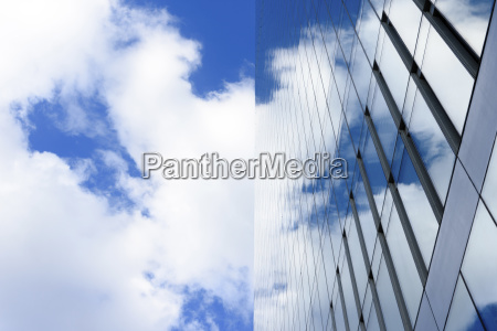 low angle view of modern office