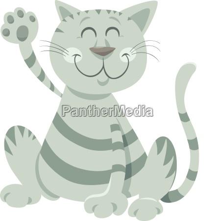 sjov tabby kat tegneserie dyr karakter
