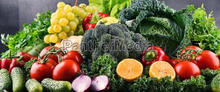 vegetabilsk frugt organisk mad kost afbalanceret