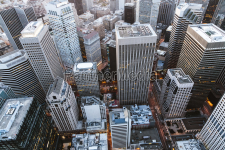 high angle view of buildings in