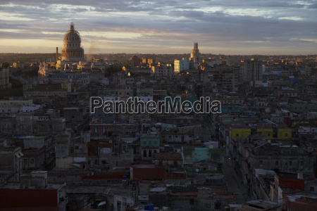 aerial view of cityscape with el