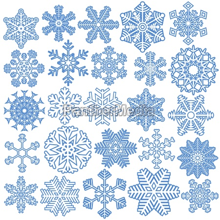 collection of christmas snowflakes