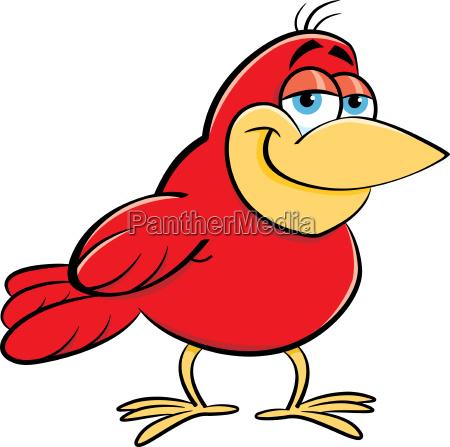 cartoon illustration of a smiling bird