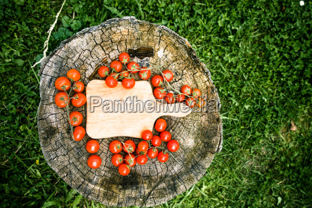 fresh tomatoes on wood