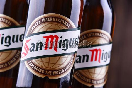 bottles of san miguel beer