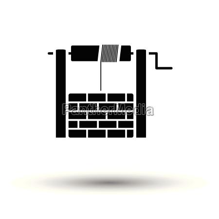 bene icona sfondo bianco con disegno