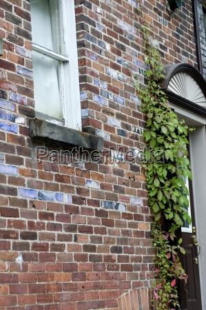 muskokas ontario canadabrick house wall with