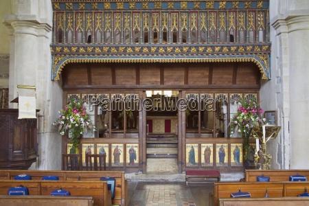 interior of st james church avebury