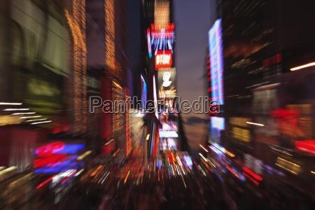 zoomet effekt af lysene pa times