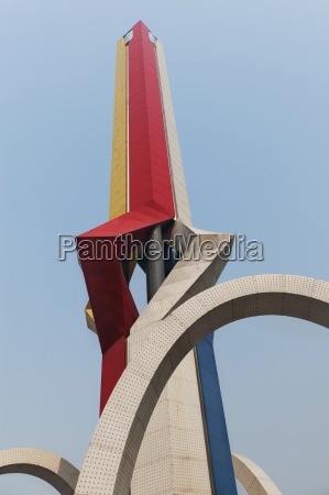 top of a pointed sculpture against