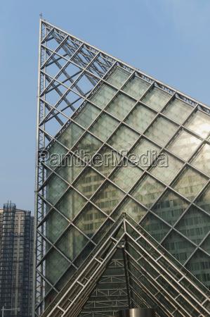 bla bygninger miljo moderne pyramide metal