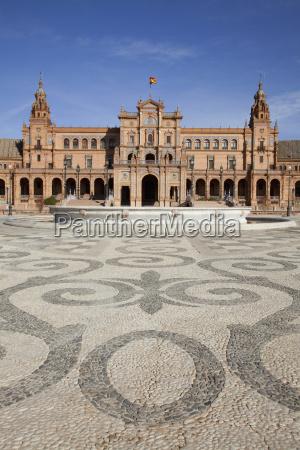 placa de espana sevilla andalusien spanien