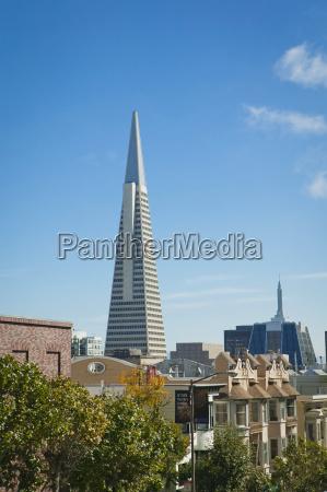 transamerica pyramid skyskraber og raekkehuse san