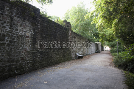 wall surrounding the palace garden trier