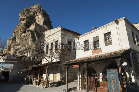a large rock formation castle of